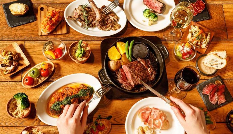 「ワインビュッフェと肉 BUTCHER & WINE」が心斎橋ネオン食堂街にOPEN