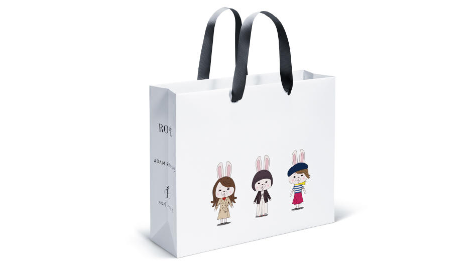 ROPÉ 3姉妹ブランドが初コラボ! 紙兎ロペが『紙袋ロペ』に?!